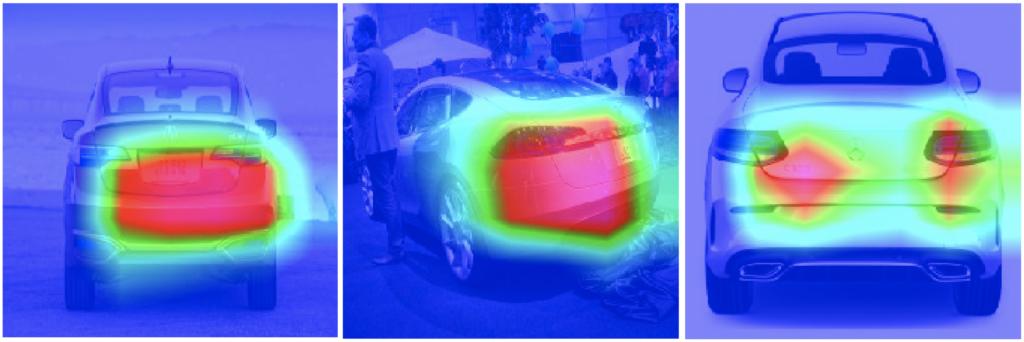Grad-CAM für Fahrzeugaufnahmen von der Rückseite