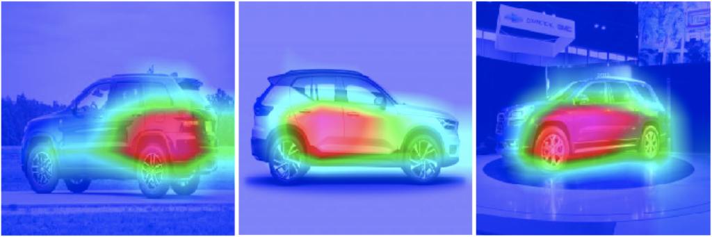Grad-CAM für Fahrzeugaufnahmen von der Seite