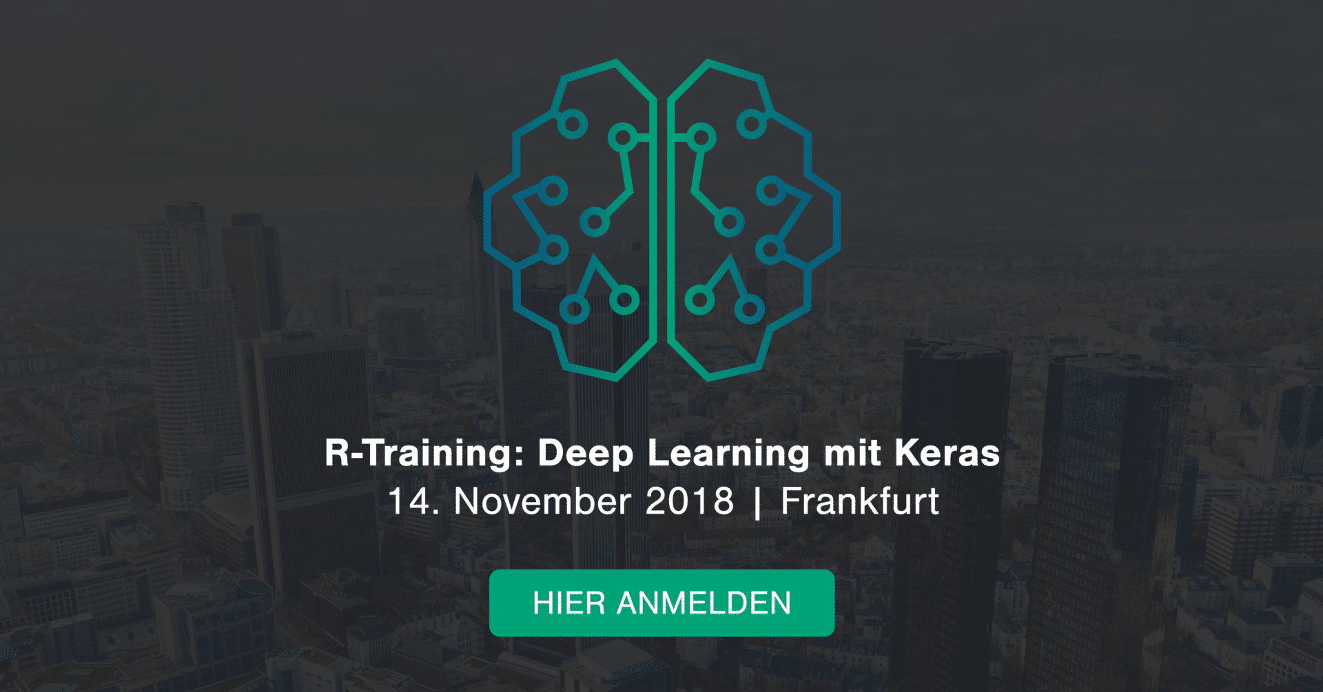 Open Workshop: Deep Learning in R and Keras, November 14th in Frankfurt