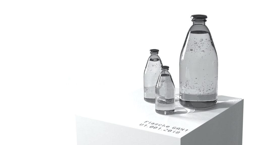 Creaition mit GAN generierte Flaschen