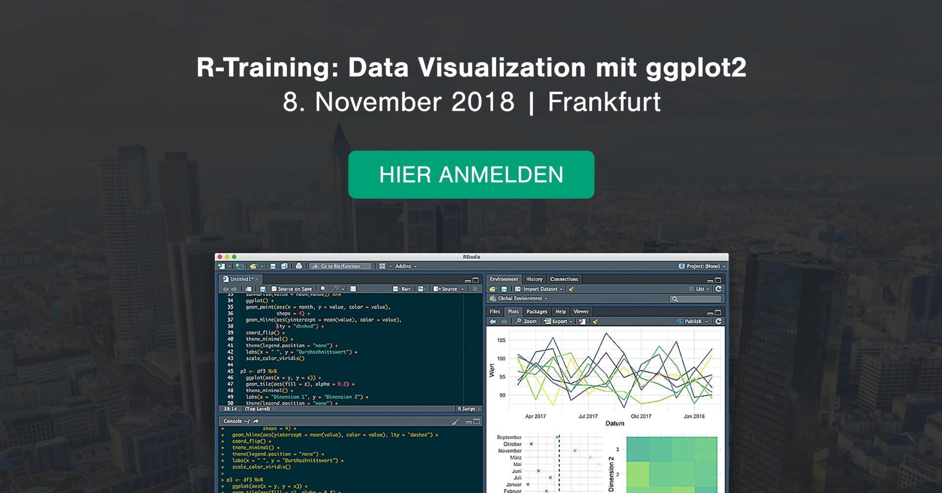 Open Workshop: Data Visualization in R and ggplot2, November 8th in Frankfurt