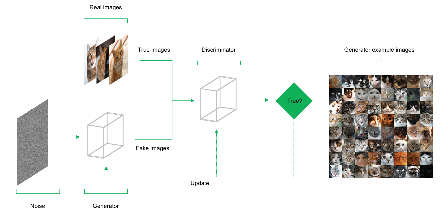 Schematische Darstellung eines GAN