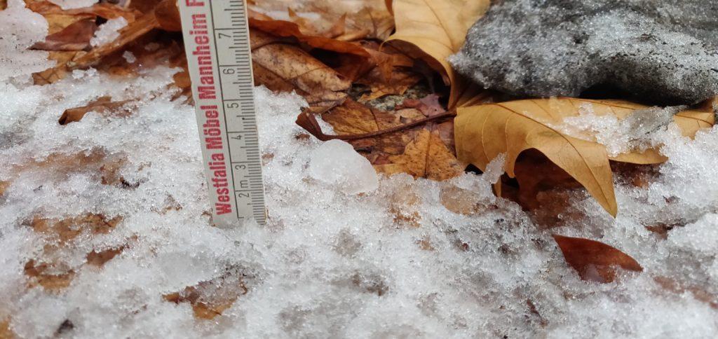 Abb. 1: Schnee in Rhein-Main